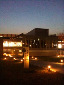 Our brand new campus front...
