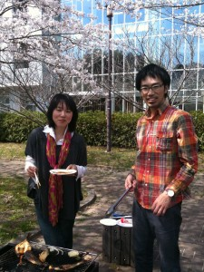 Hanami bbq at the lab