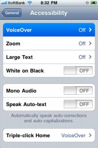 VoiceOver languages