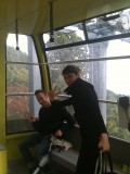 On the ropeway down from Hashikura mountain